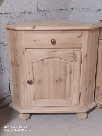 Narożna komoda lite drewno sosnowe