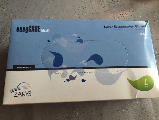 Rękawiczki diagnostyczne lateksowe, bezpudrowe, białe, rozmiar L