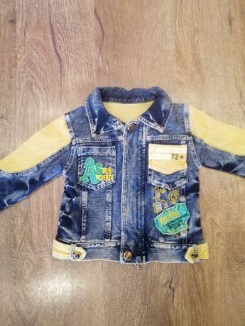 Модный, джинсовый пиджак на 92-98см