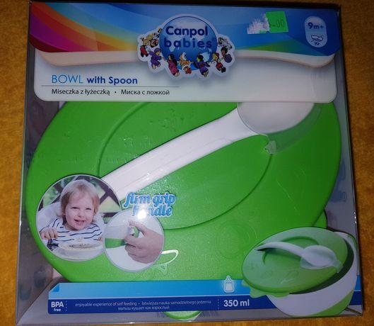 Миска тарелка с ложкой Canpol babies