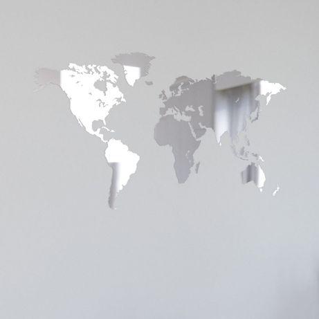 Mapa świata lustro