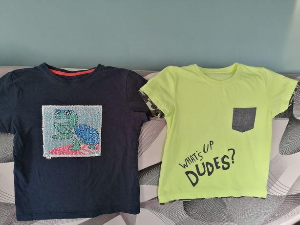 Koszulki chłopak 110, cekiny
