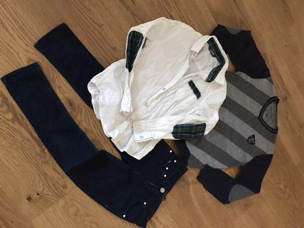Tomy Hilfiger spodnie dżinsy jak nowe 128