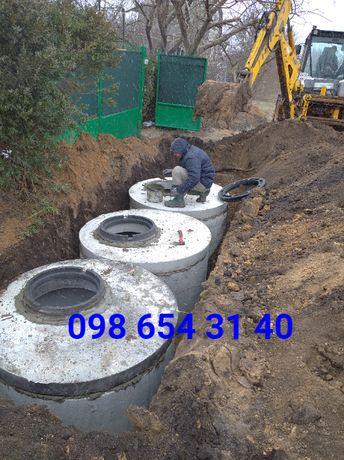выгребная яма, септик, наливной колодец, сливная яма, канализация