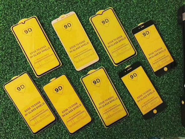 Стекло 9D Xiaomi Redmi Note 9 8 7 6 5 4 s c a 1 2 3 t x lite mi 10 pro