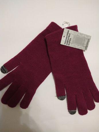 Сенсорные перчатки женские.