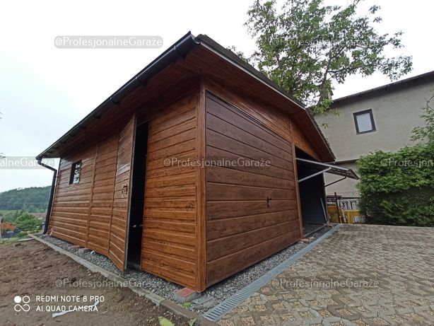 Nowoczesny garaż blaszany 6x6 Premium
