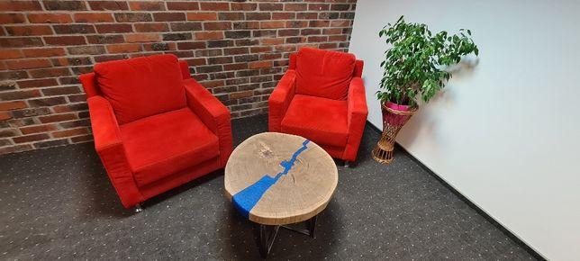 Dębowy stolik kawowy z żywicą epoksydową Styl loftowy Industrialny