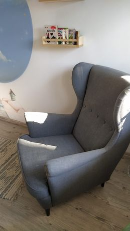 Fotel uszak Ikea Szary