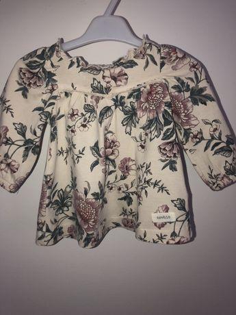 Sukienka w kwiaty Newbie beżowa, rozmiar 56