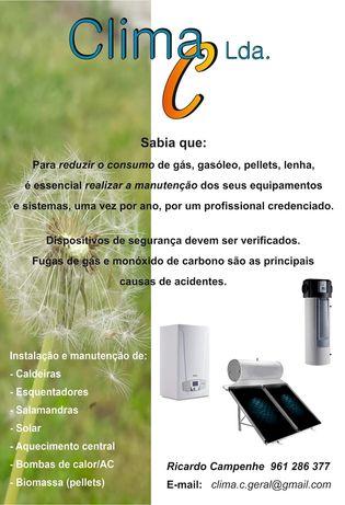 Assistência técnica (caldeiras, solar, esquentadores,...)