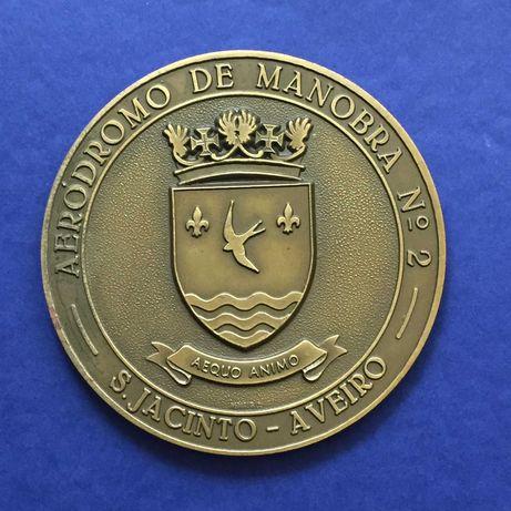 medalha FAP AERÓDROMO DE MANOBRA Nº. 2 - S. Jacinto - Aveiro - 85mm
