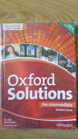 Książka podręcznik angielski technikum Oxford Solutions