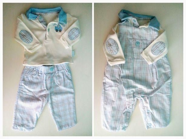 Conjunto de bebé: calças, jardineiras e camisola - 2m / aprox. 60cm