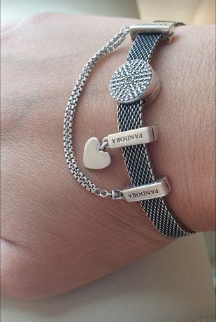 Pandora Браслет. Черненное  серебро.Новая колекция