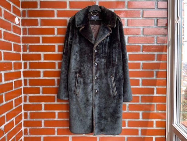 Armani Jeans оригинал мужская шуба пальто размер L армани Б У