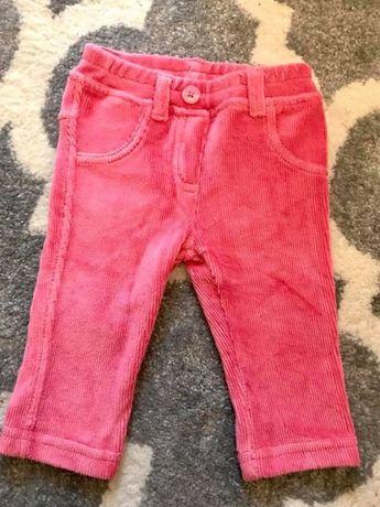 Spodnie sztruksowe Benetton Baby 62