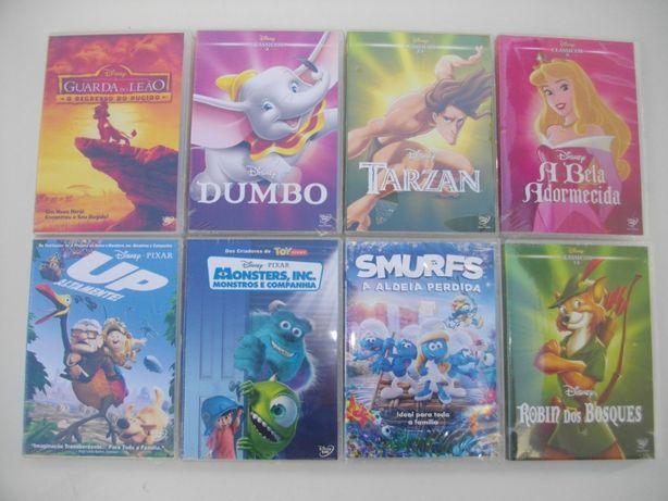 Vários DVDs de Animação novos (cada)