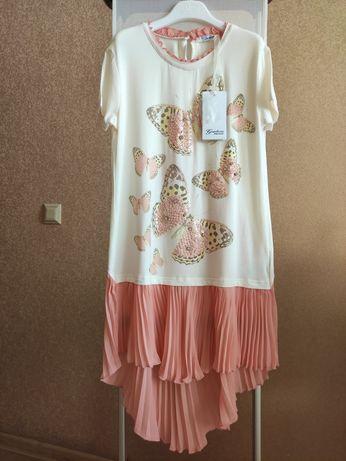 Ніжна, вишукана брендова сукня-туніка для дівчинки 152р