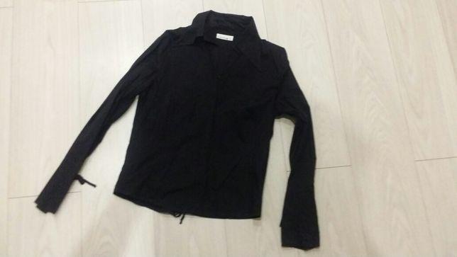 Koszula czarna damska z wiązaniem rozm. 38