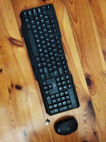 Zestaw klawiatura i myszka bezprzewodowa titanium