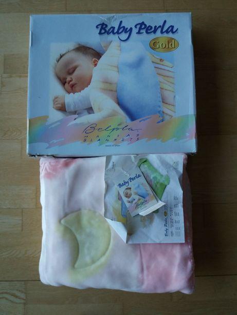 Cobertor para bebé cor rosa