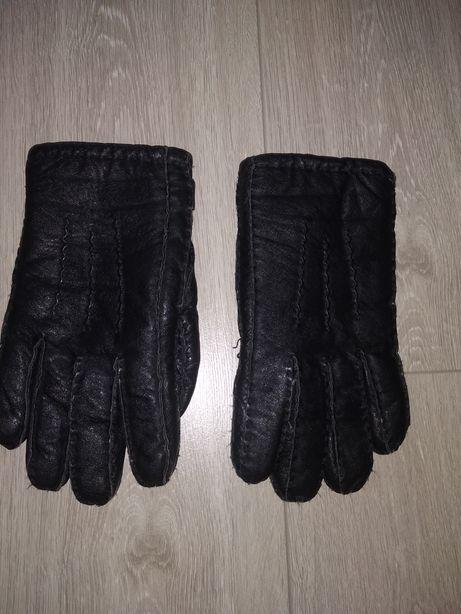 Кожаные зимние перчатки р. М
