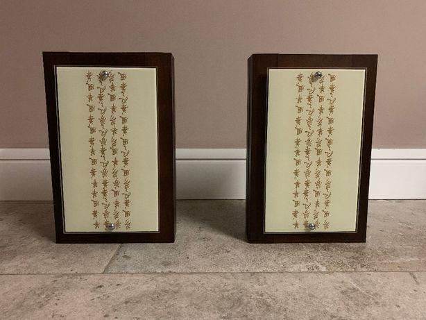Nowodvorski Technolux Fuji Orient kinkiety drewniane, chińskie znaki