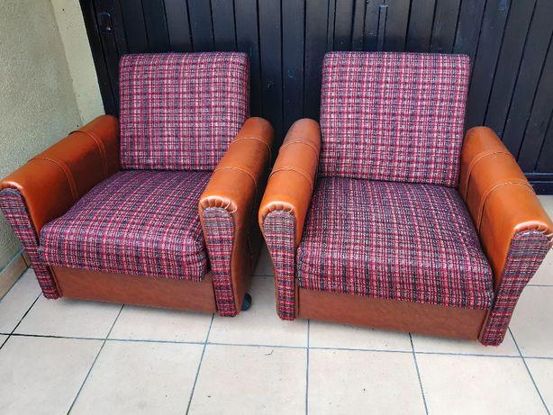 2 fotele z PRL, oryginalne z 1984