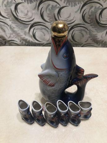 Сервиз фарфоровый Рыбки,СССР