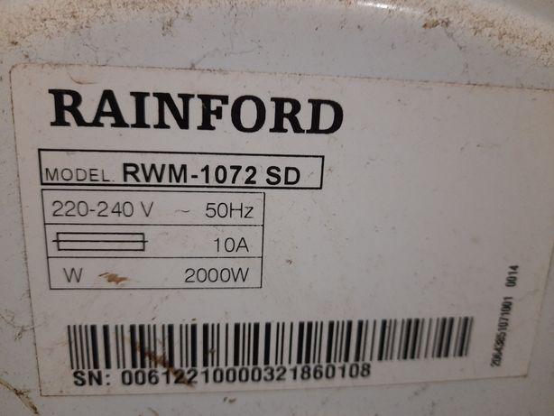 Пральна машина раінфорд