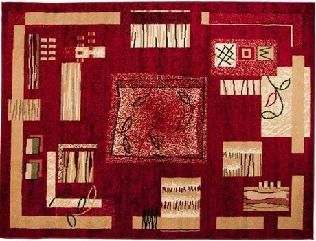 OUTLET Dywan turecki klasyczny 180x250 TKANY czerwony beżowy kremowy