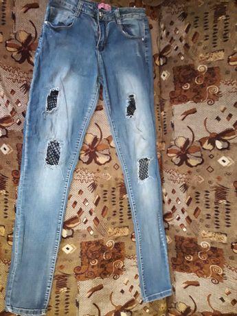 Скіні джинси з встанвою сіткою.