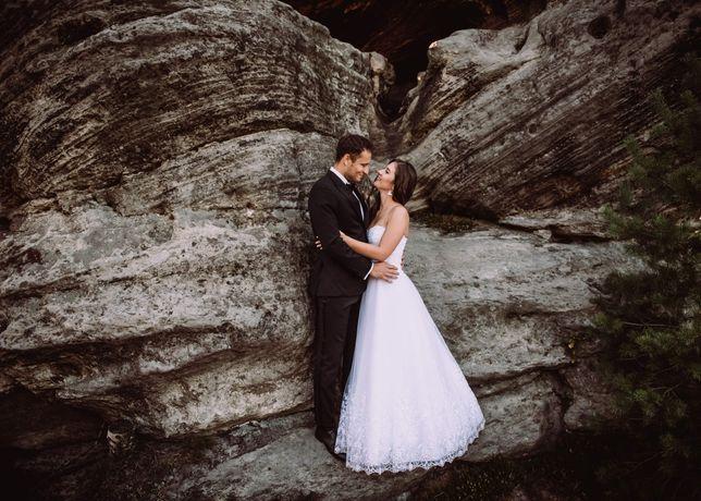 Suknia ślubna biała liteta A