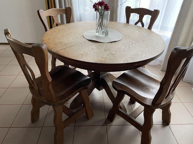 Stół jadalny dębowy
