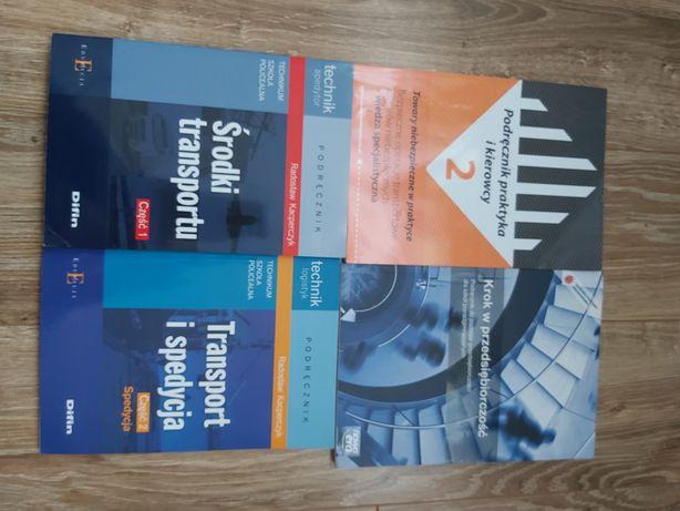 Sprzedam książki do technikum spedycji  w pakiecie taniej