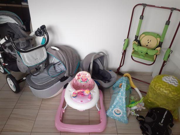 Pilnie sprzedam Wyprawka dla dziecka wózek 3 w 1