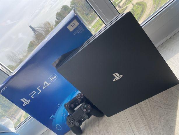 Playstation 4 pro 1 tb (ps4 pro) полный комплкет