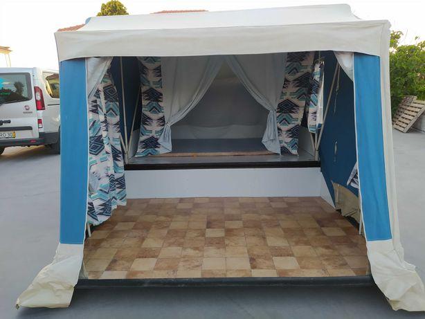 Atrelado tenda, quarto mais sala, abertura rápida