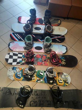 Używana deska snowboardowa buty