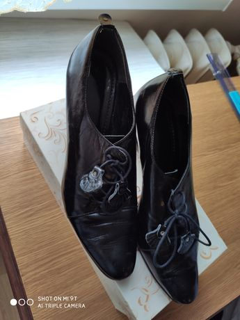 Buty skórzane czarne Błażej r40