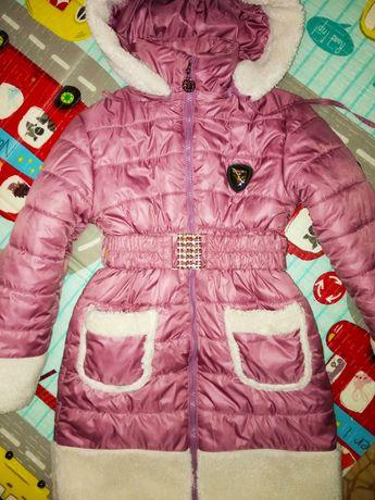 Модная зимняя курточка девочке Barbaris,размер 122