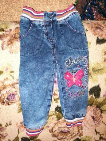 Зимние детские джинсы