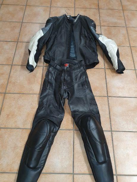 DAINESE kombinezon motocyklowy skórzany 2 częściowy spodnie, kurtka