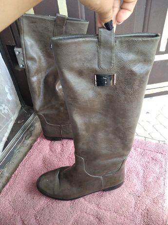 Продам кожаные  сапоги зимние