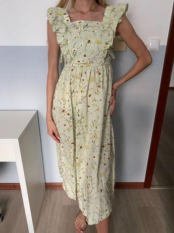 Długa letnia sukienka H&M