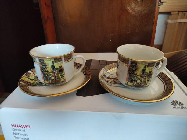 Conjunto chávenas de café ou cha.Original Egipto