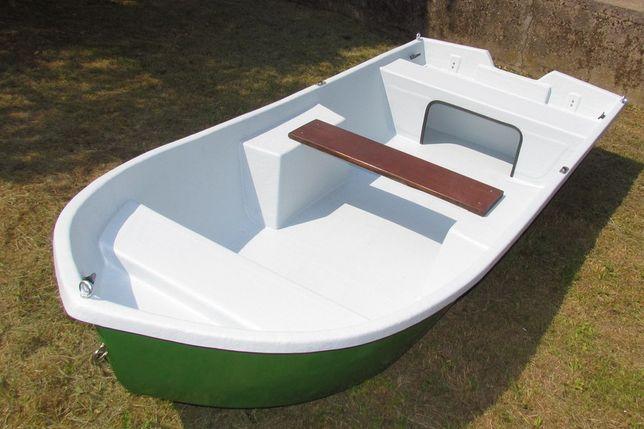 Łódka łódź wędkarska-turystyczna wiosłowa-motorowa 3,5 m płaskodenna.