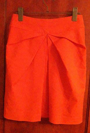 Spódnica Orsay,ołówkowa spódniczka, forma origami, niebanalna, r. 36 S