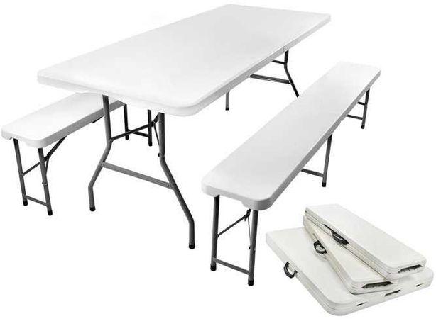 Стол стіл 180 см садовый набор складной + 2скамейки лавки.НОВЫЙ
